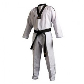 Uniforme da Taekwondo adidas Adi-Fighter 3 /// con collo nero, WTF approved.